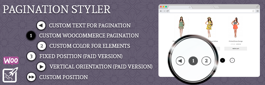 WooCommerce Pagination Styler