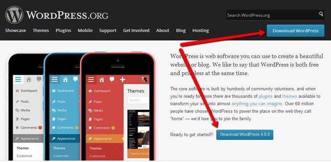 Wordpress official website