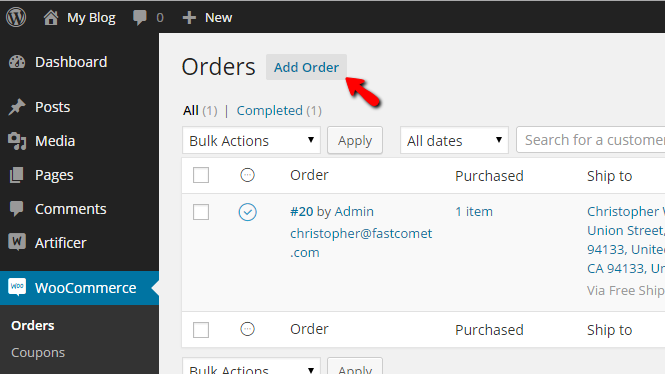 adding new orders