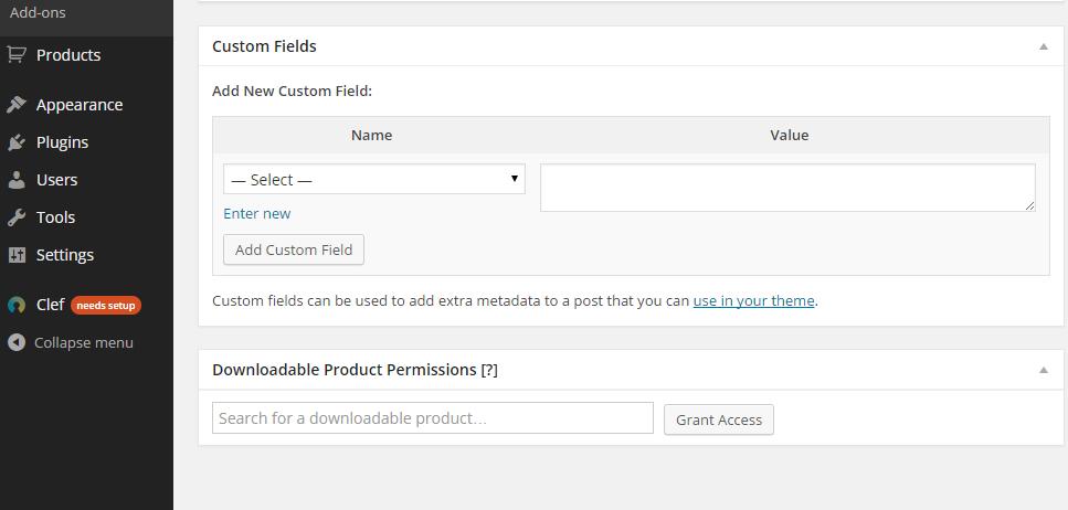 configuring the custom fields