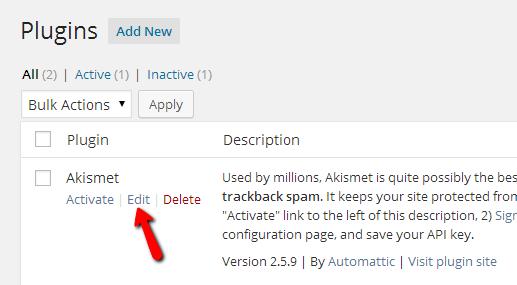 Editing-plugins