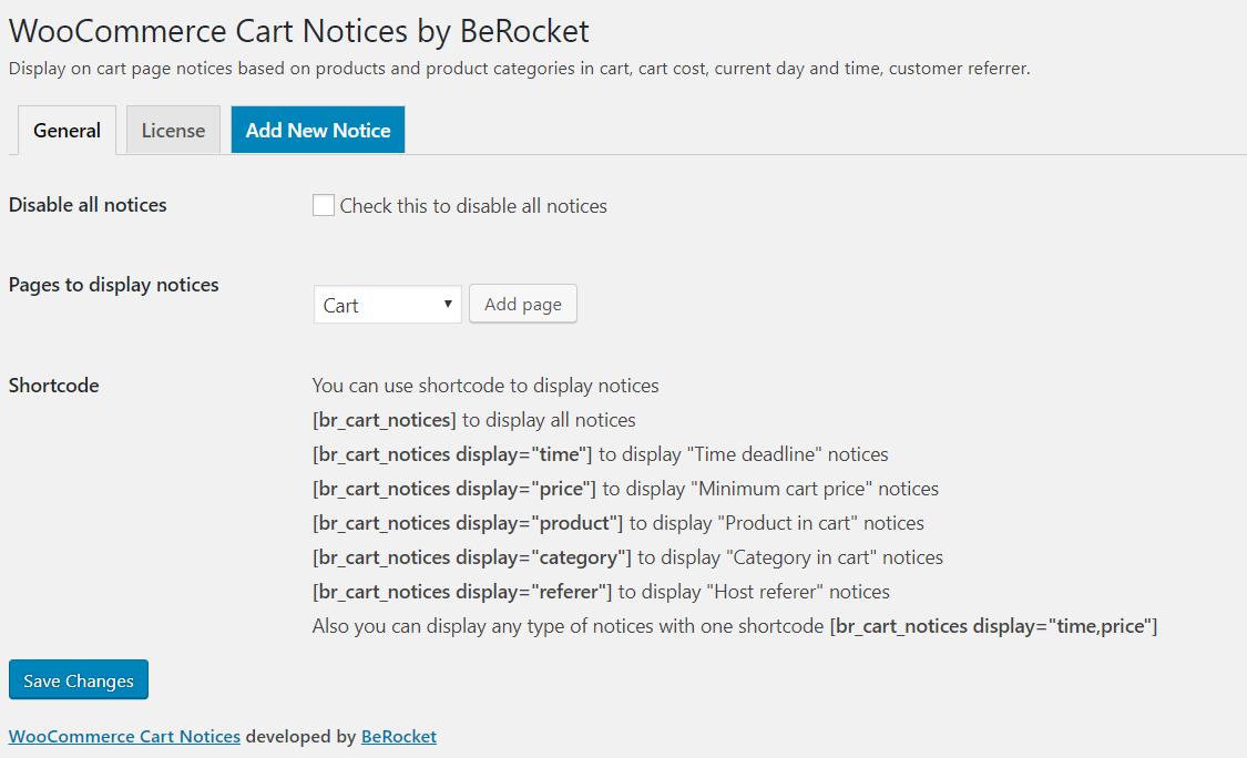 WooCommerce Cart Notices - BeRocket