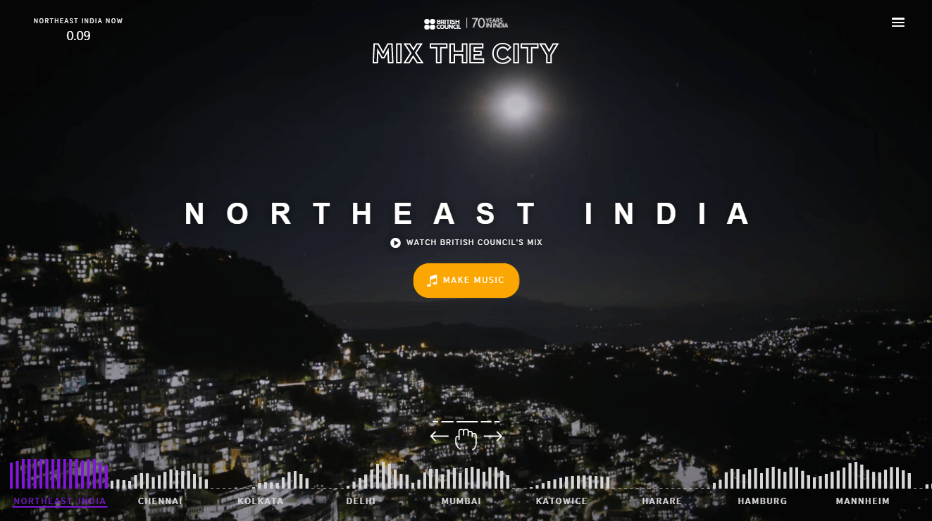 The Mix The City website.
