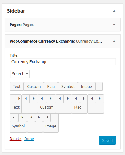 Currency Exchange Widget From Admin